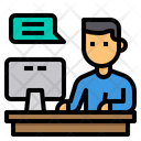Study Elearning Chat Icon