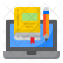 Laptop Book Education Icon