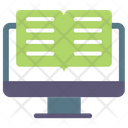 Digital Library Elearning Library Icon