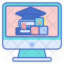 E Learning For Kids Online Learning Online Study Icon