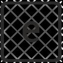 Lowcase E Letter Icon