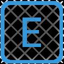 E Upper Case Icon