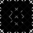 E Letter Alphabet Rudiment Icon