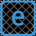 Key Letter E Icon