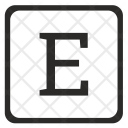 E Letter Icon