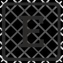 E Uppercase Letter Icon