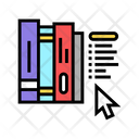 E Library Library Book Icon