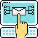 E Mail Marketing Direct Mail Electronic Direct Mail Icon