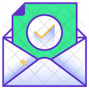 E Mail Message Approved Icon