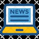 News Online Laptop Icon