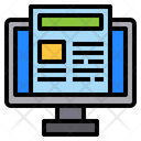 News Paper Computer Technology Icon