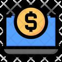Seo Laptop Money Icon