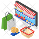 E Shopping Online Shopping Ecommerce Icon