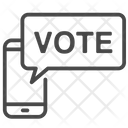 Mobile Vote Voting Pole Voting Icon