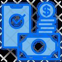 Smartphone Money Wallet Icon