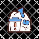 Dump E Waste Electronics Icon