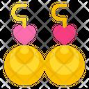 Earings Jewellery Heart Icon
