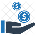 Coins Donation Loan Icon