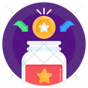 Earn Points Earn Reward Loyalty Jar Icon
