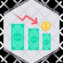 Money Decrease Finance Icon