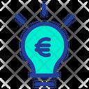Euro Bulb Idea Icon