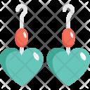 Earrings Heart Shape Icon