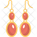 Red Earrings Jewelry Icon