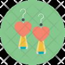 Earrings Jewelry Love Icon