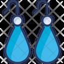 Drop Earrings Jewelry Icon