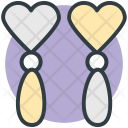 Earrings Heart Shape Icon
