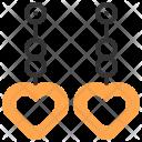 Earrings Heart Love Icon