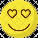 Eart Eye Adoring Emoticons Icon