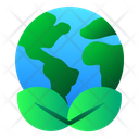 Earth Green Leaf Icon