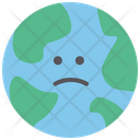 Earth World Unhappy Icon