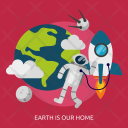 Earth Home Space Icon