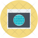 Earth Globe Internet Icon