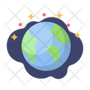 Earth Globe Galaxy Icon