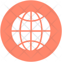 Earth Globe Grid Icon