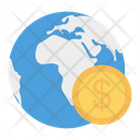 Earth Dollar Global Icon