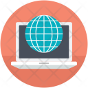 Earth Grid Globe Icon