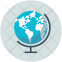 Earth Globe Round Icon