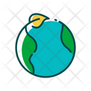 Earth And Plant Global Ecology Green Icon