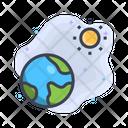 Earth And Sun Icon