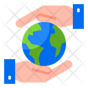 Earth Care Global Care Earthday Icon