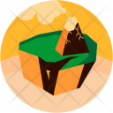Earth Crumbling Natural Icon