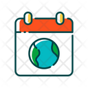 Earth Day Global Day Calendar Icon