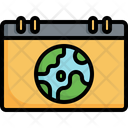 Calendar Date Earth Day Icon