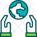 Earth Day Protect Care Icon