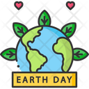 Earth Day Banner Icon