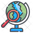 Earth Globe Geography Planet Icon